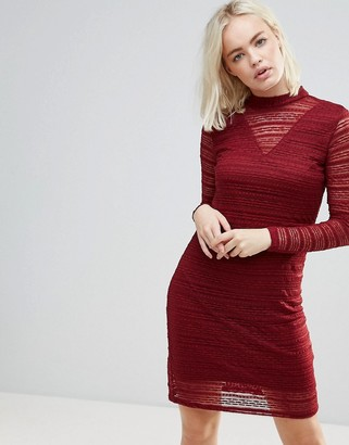 B.young Lace Dress With Sheer Panels