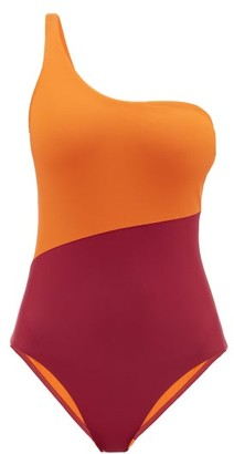 Casa Raki - Magda One-shoulder Bi-colour Swimsuit - Pink Multi