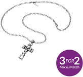 Police Mens Stainless Steel Celtic Cross Necklace