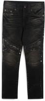 True Religion Boys' Moto Jeans with Foil Details - Little Kid