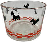 One Kings Lane Vintage Scotty Dog Glass Ice Bucket - clear/red/black