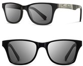 Shwood 'Canby - Newspaper' 54mm Polarized Sunglasses