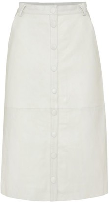 REMAIN Birger Christensen Bellis Leather Midi Skirt