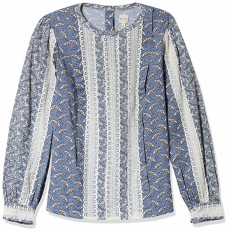 Rebecca Taylor Women's Long Sleeve Woodblock Lace Top