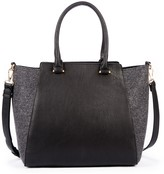 Sole Society Jeanine Mixed Material Winged Satchel