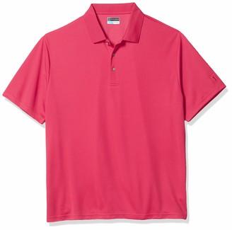 PGA TOUR Men's Big & Tall Short Sleeve Airflux Solid Polo Shirt