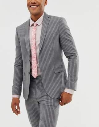 Asos Design DESIGN slim fit bright pink tie