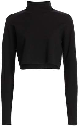 Helmut Lang Cropped Turtleneck Sweater