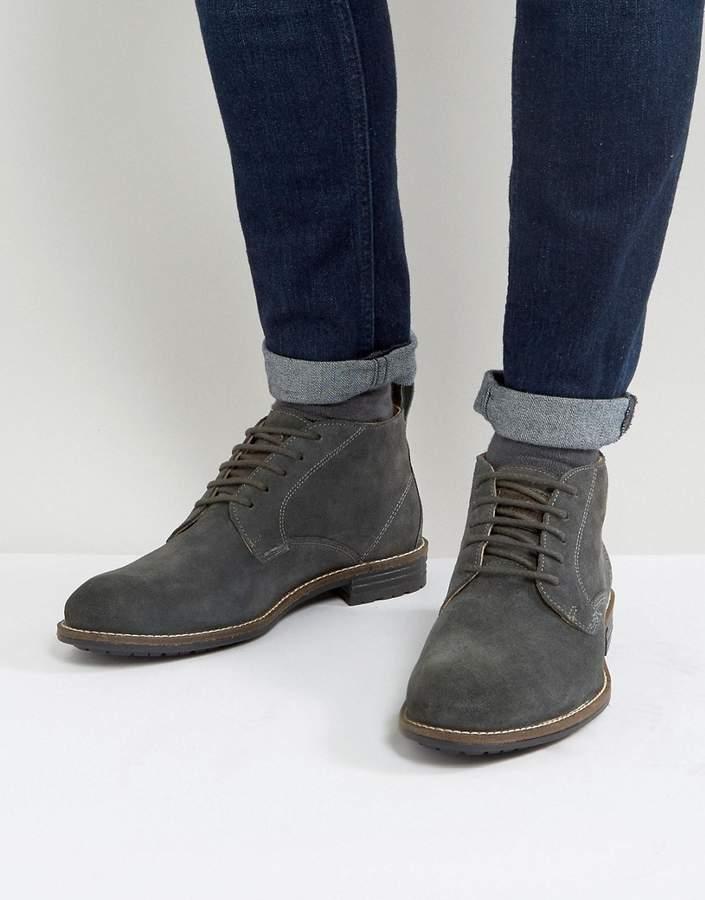 Levi's Levis huntington suede boots in black