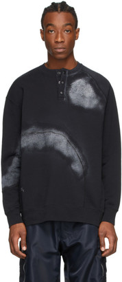 A-Cold-Wall* Black Over Spray Buttoned Sweatshirt