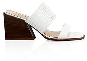 Via Spiga Women's Mariam Leather Mule Sandals