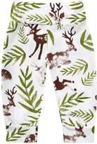 Alician Baby Boys Girls Christmas Deers Pattern Harem Pants Kids Long Pants
