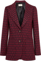 Gucci Woven Wool Blazer - Red