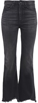 Rag & Bone Distressed High-rise Flared Jeans