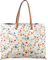 Tory Burch Leather-Trimmed Floral Tote