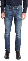 Tom Ford Slim-Fit High Low Selvedge Denim Jeans, Indigo