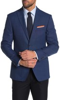 Tommy Hilfiger Blue Weave Two Button Notch Lapel Slim Fit Performance Blazer