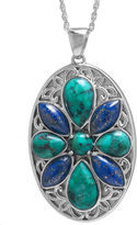 Lapis FINE JEWELRY Enhanced Turquoise & Dyed Sterling Silver Medallion Pendant Necklace