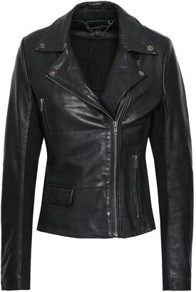 Muu Baa Muubaa Consolida Jersey-paneled Leather Biker Jacket