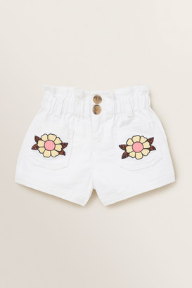 Seed Heritage Embroidered Short