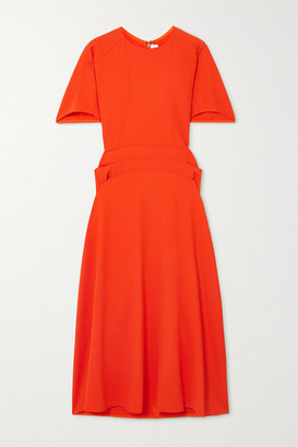 Victoria Beckham Draped Cady Midi Dress