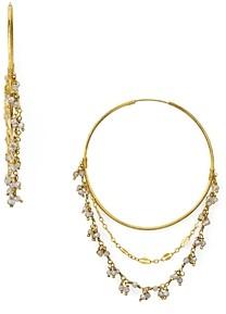 Chan Luu Stone Cluster Layered Hoop Earrings