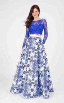 Terani Couture Illusion and Printed Two-piece Gown 1712P2750