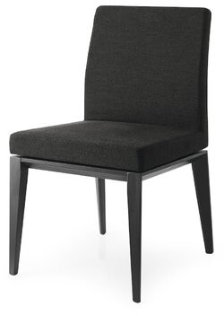 Calligaris Bess Low Leather Upholstered Side Chair Leg Color: Smoke, Upholstery Color: Taupe