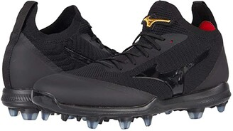 Mizuno Pro Dominant TPU Knit Molded Baseball Cleat (Black) Men's Shoes