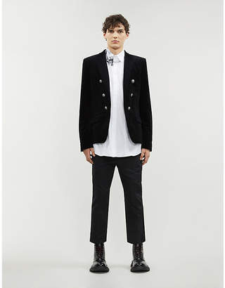 Balmain Double-breasted regular-fit velvet blazer