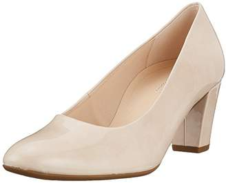Gabor Women's Comfort Fashion Closed Toe Heels, Beige Sand 82