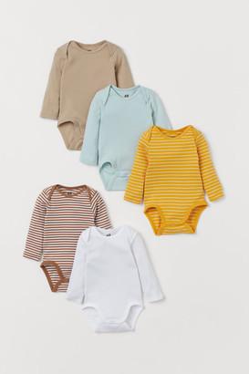 H&M 5-Pack Long-Sleeved Bodysuits