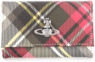 Vivienne Westwood Tartan Logo Key Case Wallet