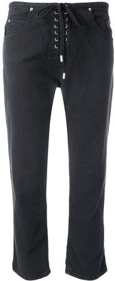 Isabel Marant Cropped Lace-Up Trousers