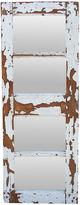 One Kings Lane Vintage Distressed White Paneled Mirror