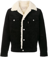 MAISON KITSUNÉ shearling trucker jacket