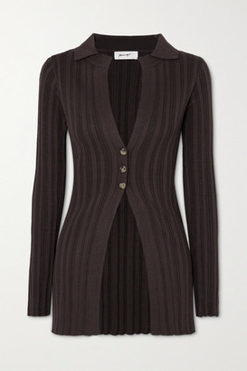 The Line By K Nidia Ribbed-knit Cardigan - Brown