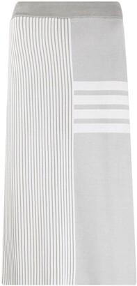 Thom Browne Striped Mid-Length Skirt