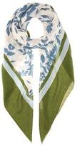Loro Piana Giardini Del Lago Printed Cashmere And Silk-blend Scarf