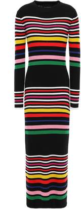 Paper London Rave Striped Ribbed Wool Midi Dress