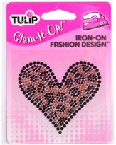 Tulip Express Yourself Iron-On Designs-Leopard Heart
