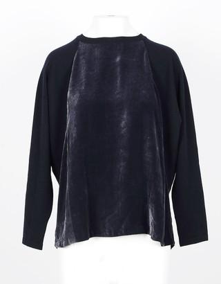 Lamberto Losani Blue Wool, Cashmere and Silk Women's Sweater