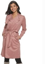 Apt. 9 Petite Faux-Suede Trench Jacket