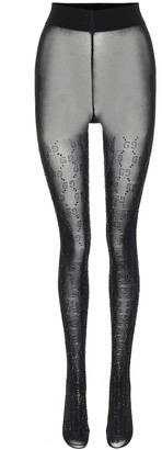 Gucci Embellished GG tights