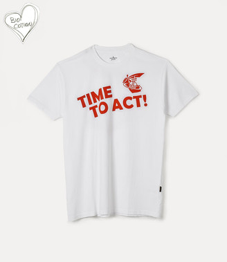 Vivienne Westwood New Boxy T-Shirt Time To Act White