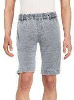 Jet Lag Burnout Flat-Front Shorts