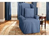 Sure Fit Duck Solid - Wing Chair Slipcover - (SF33064)