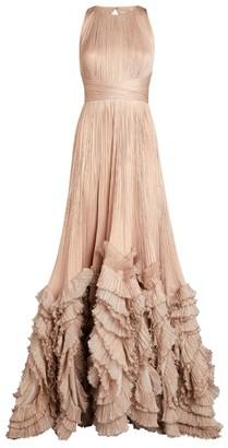 Maria Lucia Hohan Ruffle-Detail Chloe Gown