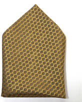 coeur Menswear Pure British Silk Oxford Pocket Square In Honeycomb