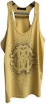 Roberto Cavalli Yellow Cotton Top for Women